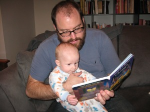 Reading a bedtime story